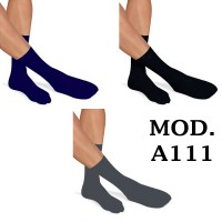 12 Paia di Calzini mezza gamba da uomo in cotone Tg. da 40 al 46 colore mod. A111