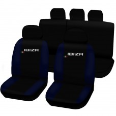 Coprisedili Seat Ibiza dal 2008 in poi bicolore nero - blu scuro