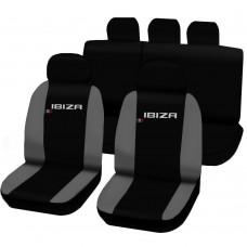 Coprisedili Seat Ibiza dal 2008 in poi bicolore nero - grigio chiaro