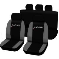 Coprisedili Renault Kadjar bicolore nero - grigio chiaro