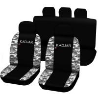 Coprisedili Renault Kadjar bicolore nero - mimetico chiaro