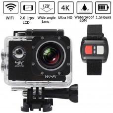 Mini videocamera sports con telecomando 4k