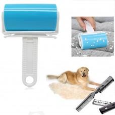 Spazzola adesiva rimuovi Pelo Picks Up + pettine con doppia lama e pettine taglia pelo per Animali Pet Trimmer