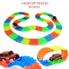 Pista luminosa con automobile per bambini Light Up Tracks