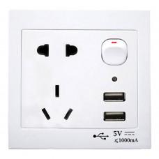 Presa a muro Universale con prese AUS - NZ - US - USB con interruttore di accensione/spegnimento