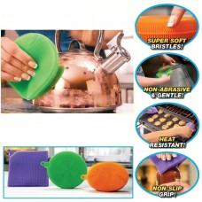 Set 3 Spugne in Silicone multiuso per bagno, cucina e cura personale