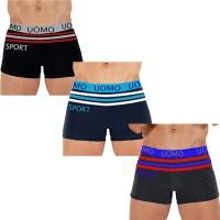 "6 Boxer da Uomo ""UOMO SPORT"" comodi vari colori mod. F7124"