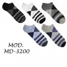 Calzini da uomo sport alla caviglia 12 paia 40-46 Colori Assortiti MD-3200