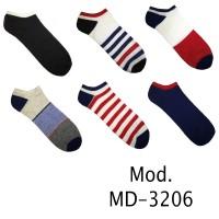 Calzini da uomo sport alla caviglia 12 paia 40-46 Colori Assortiti MD-3206