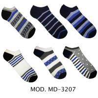 Calzini da uomo sport alla caviglia 12 paia 40-46 Colori Assortiti MD-3207