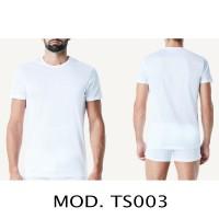 3 T-Shirt Magliette a maniche corte intimo bianco Girocollo cotone NO.TS003