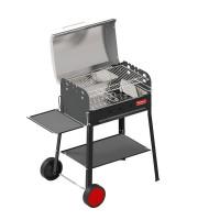 Ferraboli Barbecue a Carbonella e Legna griglia cromata con dimensioni di 56x35 cm modello Garda - 0152