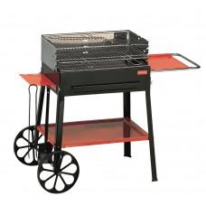 Ferraboli Barbecue a Carbonella e Legna griglia cromata con dimensioni di 59x38 cm modello Imperial - 0222