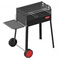 Ferraboli Barbecue a Carbonella griglia cromata con dimensioni di 58×37 cm modello Iseo c/ruote - 0151