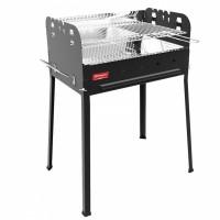 Ferraboli Barbecue a Carbonella e Legna griglia cromata con dimensioni di 56×35 cm modello Sirio - 0156
