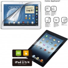 2 Pellicole Protettrice PET per Ipad 2/3/4 o Samsung Galaxy 10.1 GT-N8000