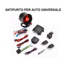 Antifurto auto universale allarme completo con 2 radiocomandi e centralina