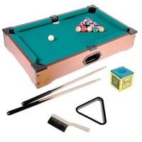 Mini tavolo da biliardo con 2 Stecche Palle Gesso e Triangolo