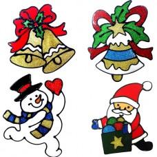Adesivi natalizi in silicone 6 pezzi babbo natale pupazzo di neve campanelle