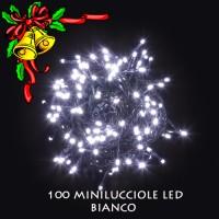 100 minilucciole led bianco