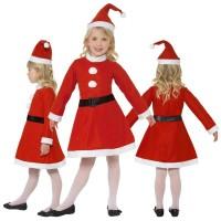 Vestito babbo natale per bambina varie taglie femminile