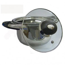 Casseruola pentola 18/10 acciaio inox 18 cm fondo termico