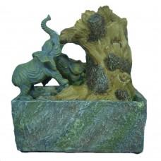 Fontana zen orientale elefante