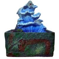 Fontana zen orientale onda delfini