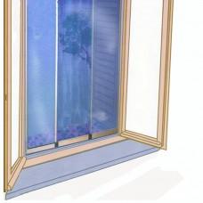 Zanzariera per finestra reversibile orizzontale e verticale