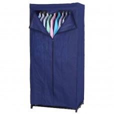 Armadio in tnt colore blu 75 x 50 x h 160 cm con asta porta grucce Pratiko 601