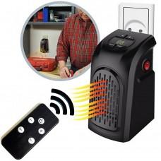 Stufa Elettrica portatile con Telecomando temperatura regolabile da 15 a 32 Gradi a basso consumo 350W con presa a muro