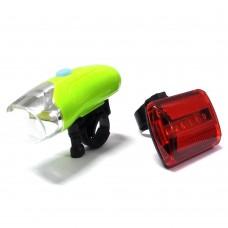Kit luci a led per bici composto da torcia anteriori e luce posteriore