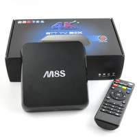 Tv box smart tv 4k m8s kodi hdmi fullhd 1080p H.265 WIFI dlna
