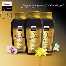 Bagno doccia + Crema corpo Aquolina Oud con olio di argan varie fragranze 2pz.