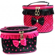 Borsello Trousse porta trucchi make up in tessuto BOW