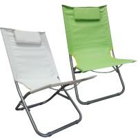 Sedia sdraio Spiaggina con cuscino imbottito Pratiko Verde Mela