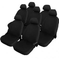 Coprisedili cotone nero per monovolume 7 posti auto