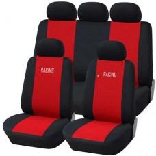 Coprisedili auto universali rosso - nero
