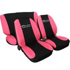 Coprisedili 500 nuova bicolore nero-rosa