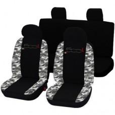 Coprisedili 500L bicolore militare chiaro-nero