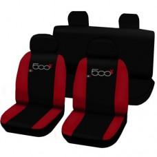 Coprisedili 500x bicolore nero - rosso