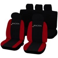 Coprisedili Nissan Micra bicolore nero - rosso