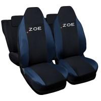 Coprisedili compatibili con Zoe bicolore Nero-Blu Scuro