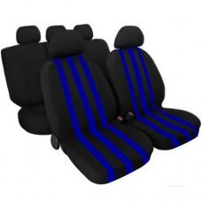 Copri sedili auto 6 zip NeroAzzurro