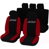 Coprisedili Golf bicolore nero - rosso