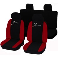 Coprisedili Lancia Ypsilon Y bicolore nero - rosso