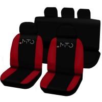 Coprisedili Alfa Mito posteriore intero - bicolore nero rosso