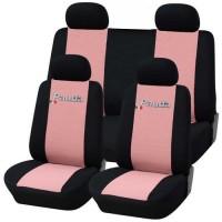 Coprisedili Fiat Panda nuova posteriore 50/50 bicolore rosa - nero