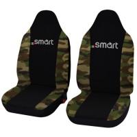 Coprisedili Smart fortwo - terza serie - bicolore nero mimetico classico