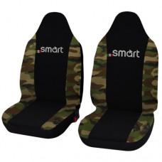 Coprisedili Smart fortwo - seconda serie - bicolore nero mimetico classico